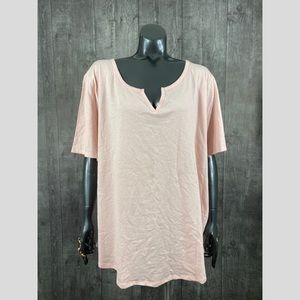 Terra & Sky Plus Size 3X Pink Short Sleeve Top